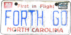 FORTH GO license plate