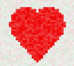 Heat Map Valentine Heart